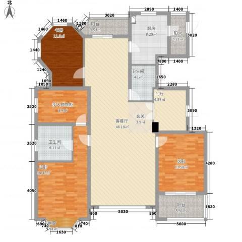 浦江公馆3室1厅2卫1厨194.00㎡户型图