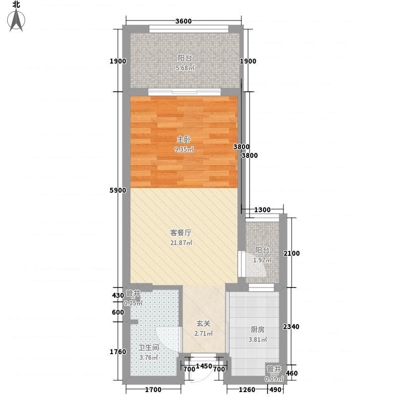 协信公馆一期高层4号楼标准层2/5/8/11号房B户型