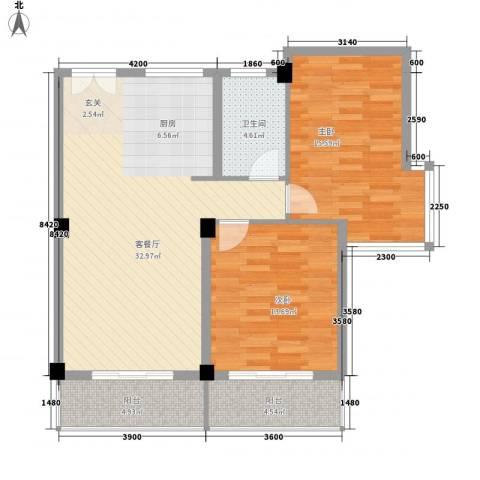 盛大晶座2室1厅1卫0厨97.00㎡户型图