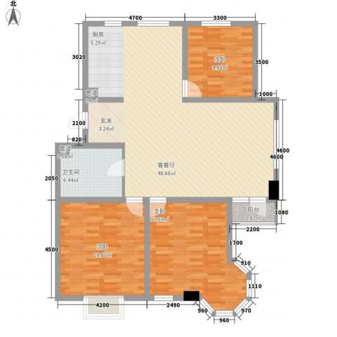君临天下3室1厅1卫0厨142.00㎡户型图