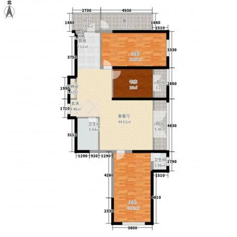 丽水蓝天3室1厅2卫0厨165.00㎡户型图