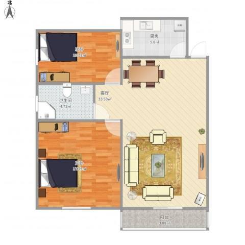 德裕家园东区8号13072室1厅1卫1厨101.00㎡户型图