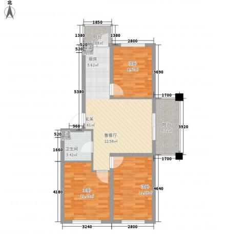 亿达帝景3室1厅1卫0厨94.00㎡户型图