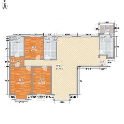 新世界花园�景华庭3室1厅3卫0厨179.00㎡户型图