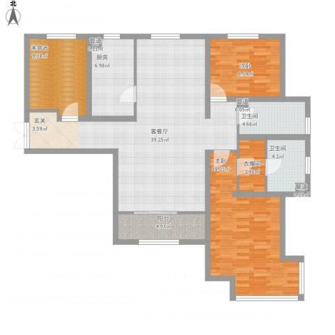 五矿榕园旷世公馆2室1厅6卫1厨143.00㎡户型图