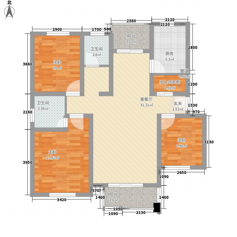 翡翠英格兰117.20㎡户型3室2厅2卫1厨