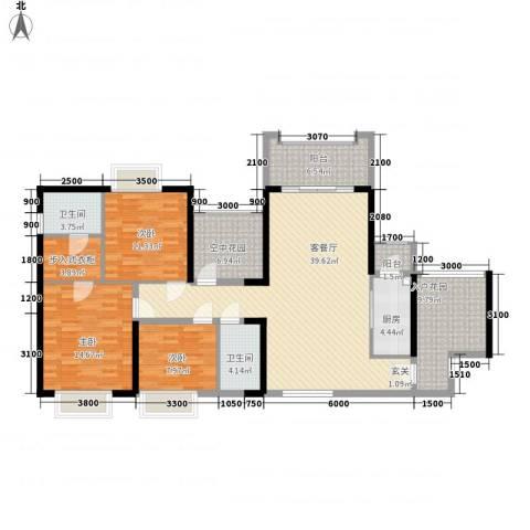 天湖御林湾3室1厅2卫1厨21146.00㎡户型图