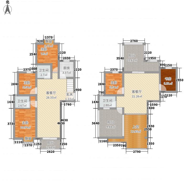 泰和家园186.56㎡顶层C1户型5室3厅3卫