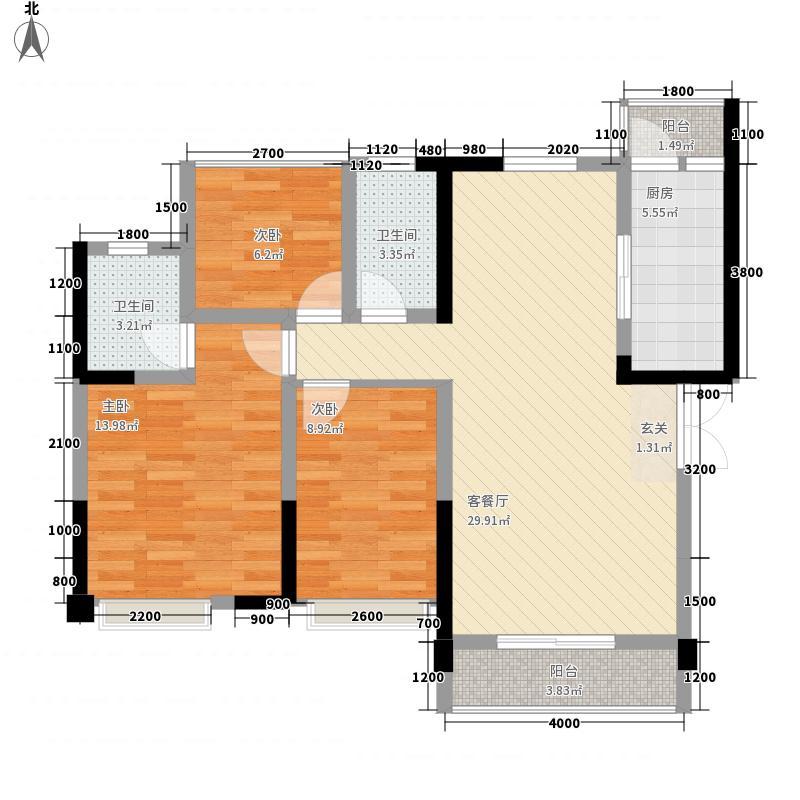 科华・西城公馆33.20㎡3-A3户型