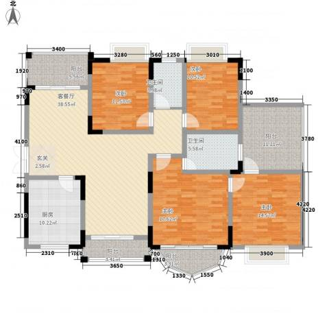 锦绣江山4室1厅2卫1厨155.66㎡户型图