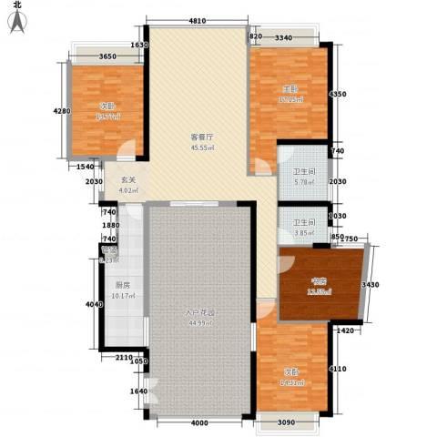 国际邮轮城一期4室1厅2卫1厨232.00㎡户型图