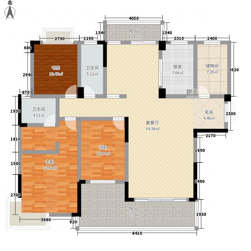 德和・沁园9#楼偶数层平面图户型