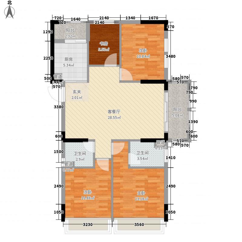 悦达巴黎公馆125.00㎡4#C户型3室2厅2卫1厨