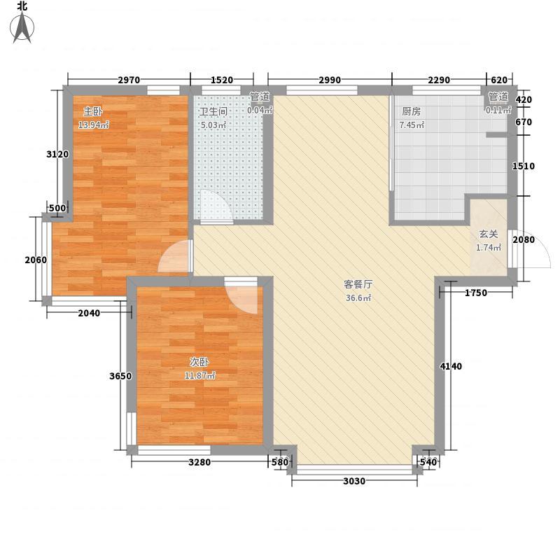 新世界花园湾景华庭107.56㎡新世界花园湾景华庭户型图6-24层2室2厅1卫户型2室2厅1卫