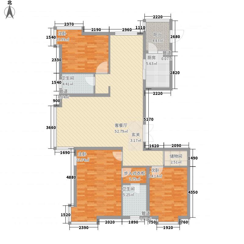 新世界花园湾景华庭170.04㎡新世界花园湾景华庭户型图3室2厅2卫户型10室