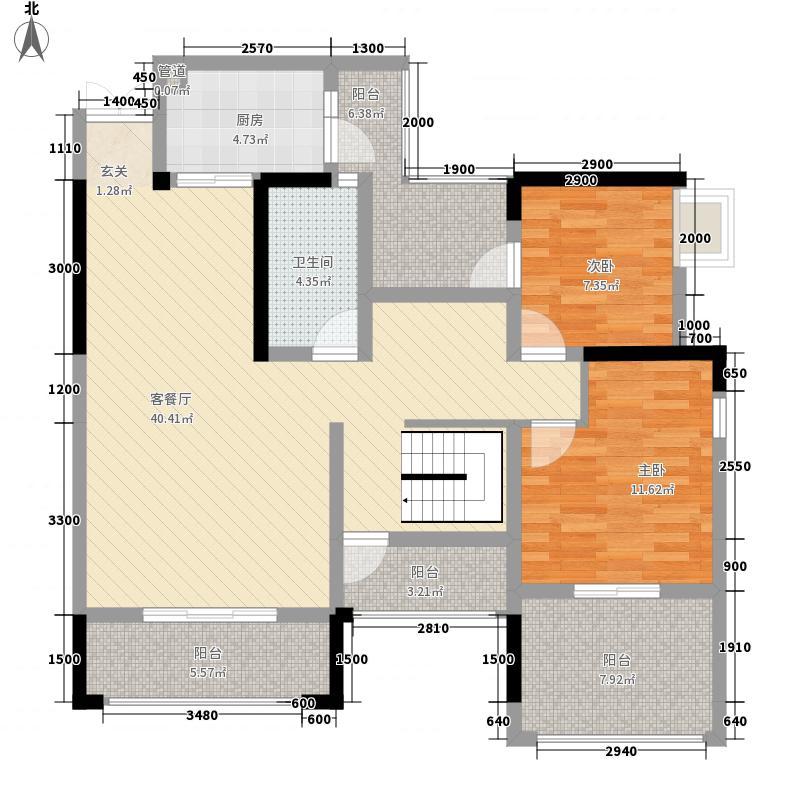 兴发龙溪谷146.20㎡11栋C1户型3室2厅2卫1厨