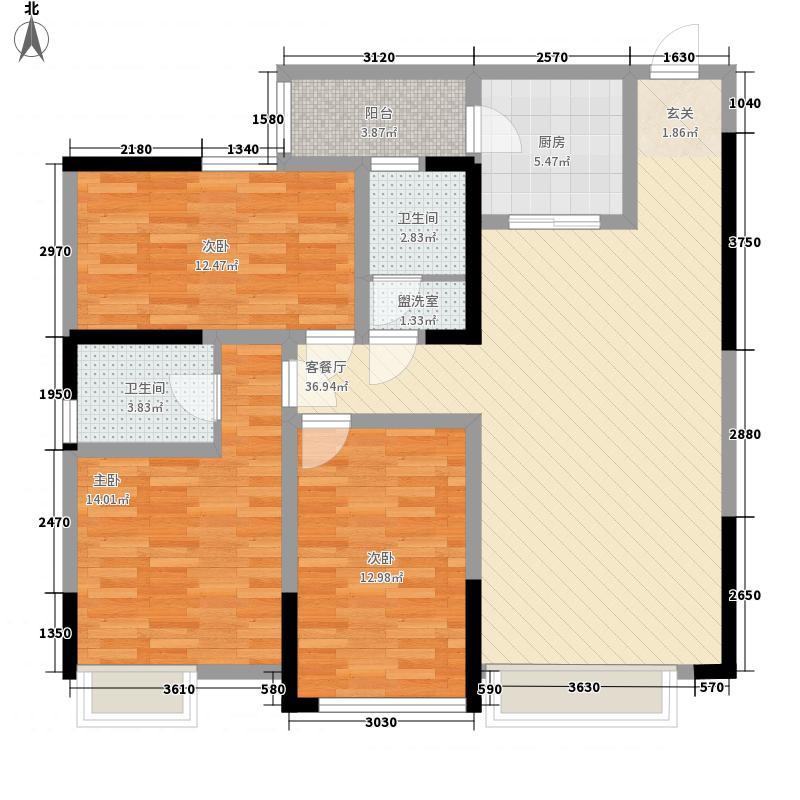 康鹏・中央城邦14.67㎡D2-5户型2室2厅2卫