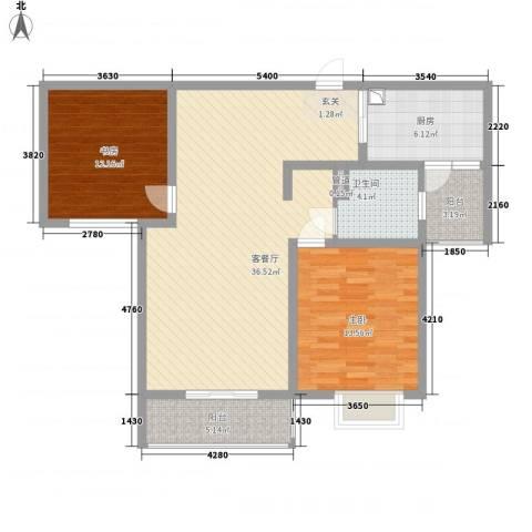 第五元素2室1厅1卫1厨116.00㎡户型图