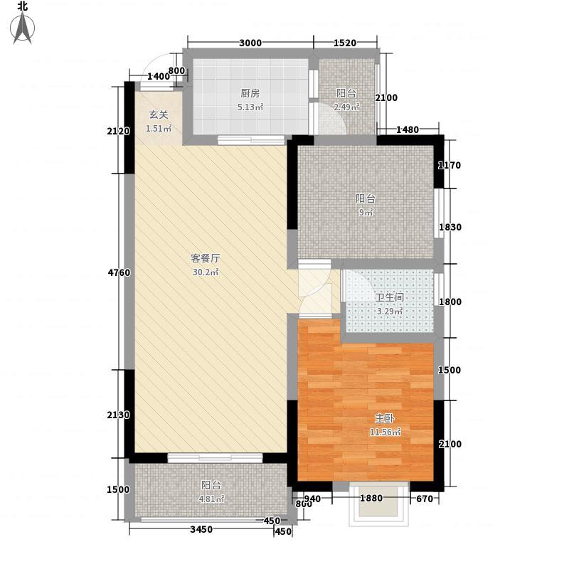 屏山王府井7.00㎡3户型1室2厅1卫1厨