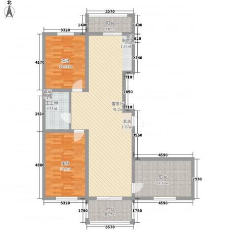 新浦家园2室1厅1卫0厨134.00㎡户型图