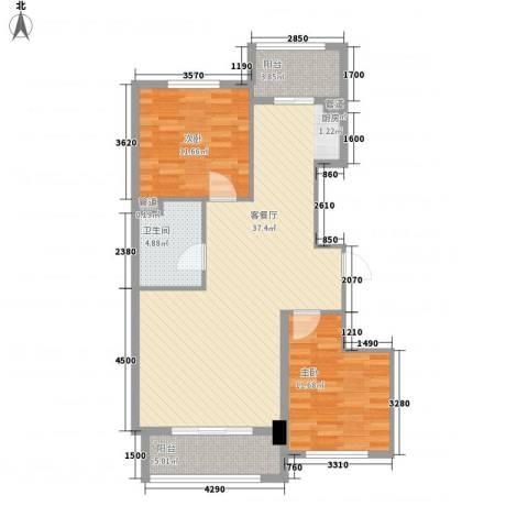 新浦家园2室1厅1卫0厨74.75㎡户型图
