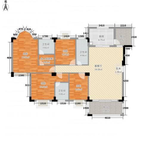 骏雅豪园4室1厅3卫1厨162.00㎡户型图