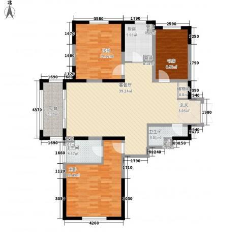 尚海湾豪庭3室1厅2卫1厨145.00㎡户型图