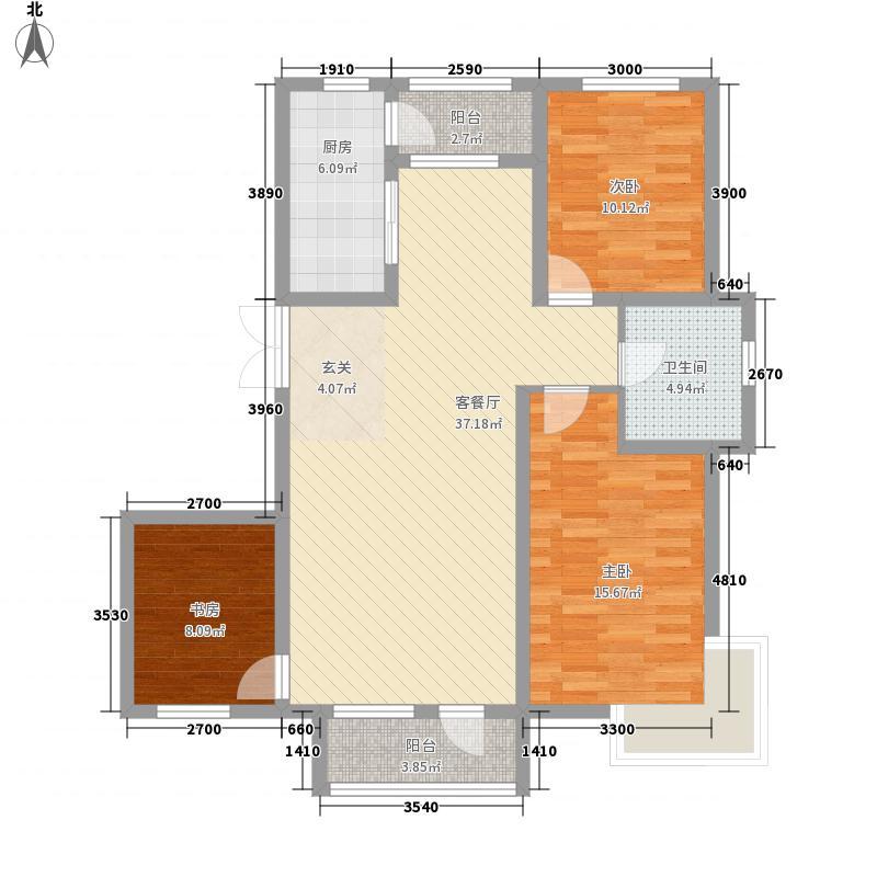 宝地-福湾312.20㎡E户型3室2厅1卫