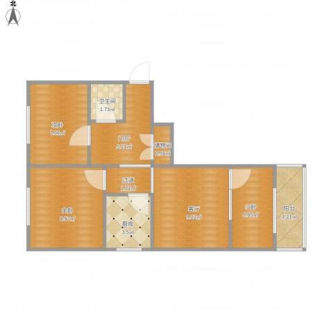 民旺园12--1-5012室1厅1卫1厨65.00㎡户型图
