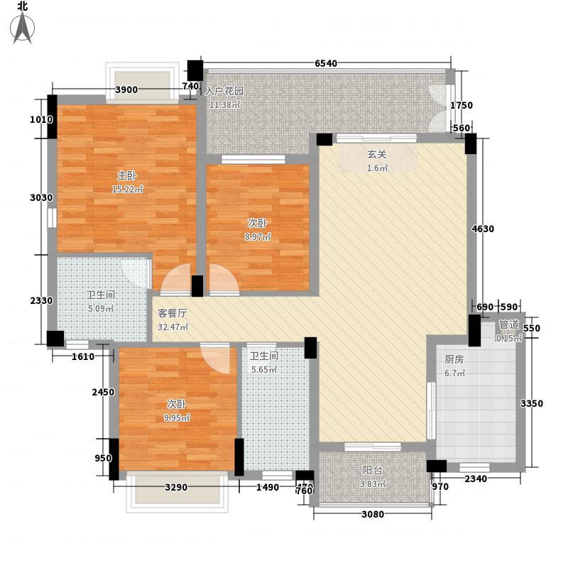 保利春天大道133.00㎡莫奈花园8B、C/9B、C/3-4层10号楼/3-5层户型3室2厅2卫1厨