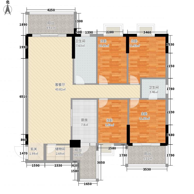 嘉俊雅苑176.40㎡1栋5-16层04户型3室2厅2卫1厨