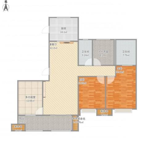 万科城2室1厅2卫1厨146.00㎡户型图