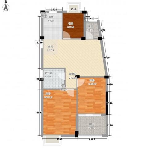 秋兰楼3室1厅1卫0厨99.00㎡户型图
