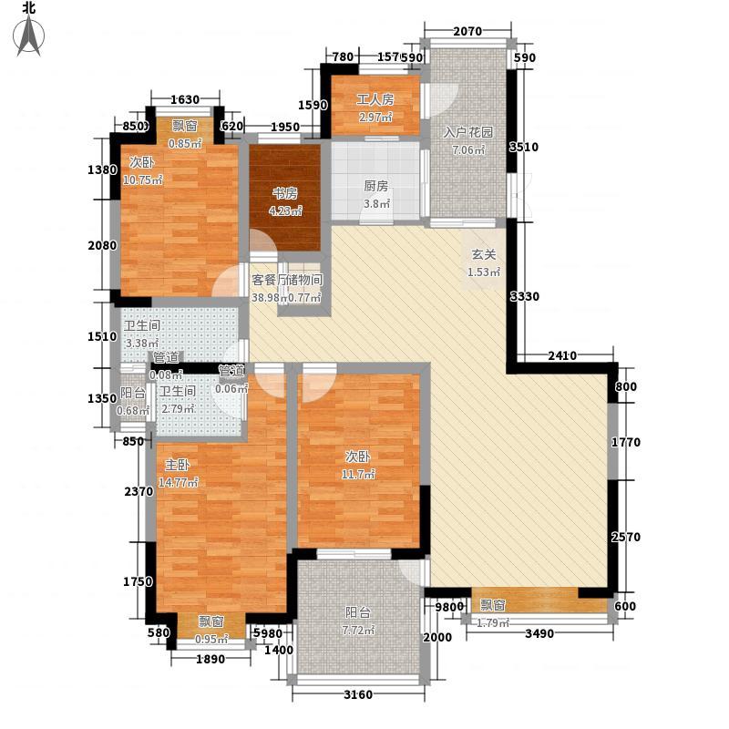棕榈泉国际花园160.03㎡棕榈泉国际花园户型图4室2厅2卫1厨户型10室