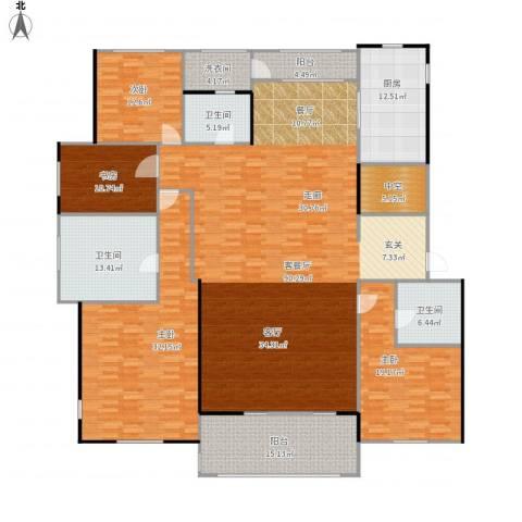 九龙仓国宾1号4室1厅3卫1厨306.00㎡户型图