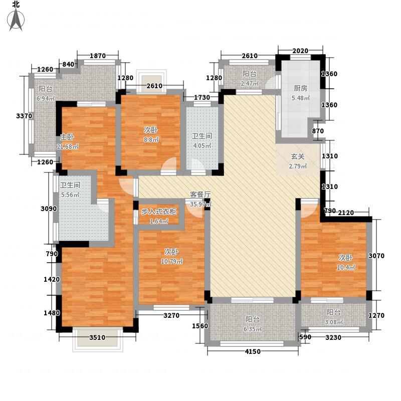 御山前4室1厅2卫1厨182.00㎡户型图