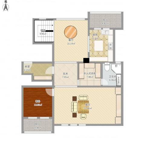 维科太子湾1室2厅1卫1厨183.00㎡户型图