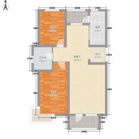 宝地-福湾2室1厅1卫1厨218.00㎡户型图
