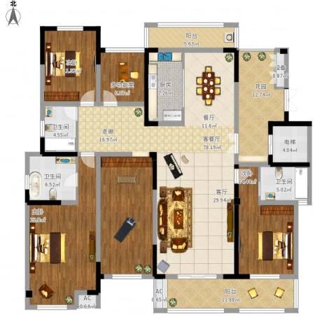 凤凰湖壹号3室1厅3卫1厨276.00㎡户型图