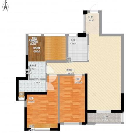 花样年江山2室1厅1卫1厨117.00㎡户型图