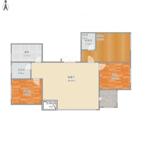 沛县香樟苑2室1厅1卫1厨108.80㎡户型图