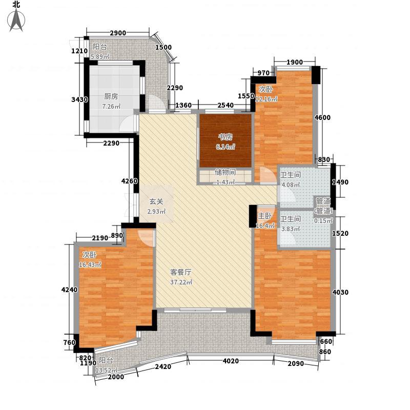 悦景豪园户型4室2厅2卫