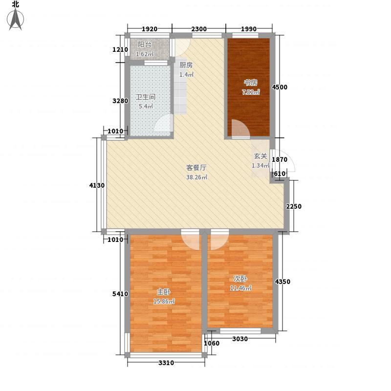 映豪小区112.00㎡户型3室2厅1卫
