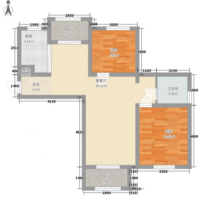 龙桥新园二期7、9号楼标准层A1户型