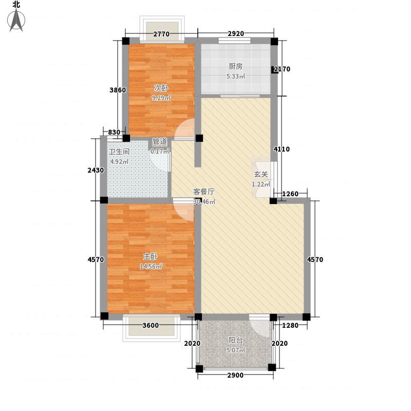 长城花园99.00㎡长城花园2室户型2室