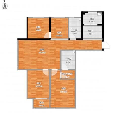 青云天下4室2厅2卫1厨126.00㎡户型图