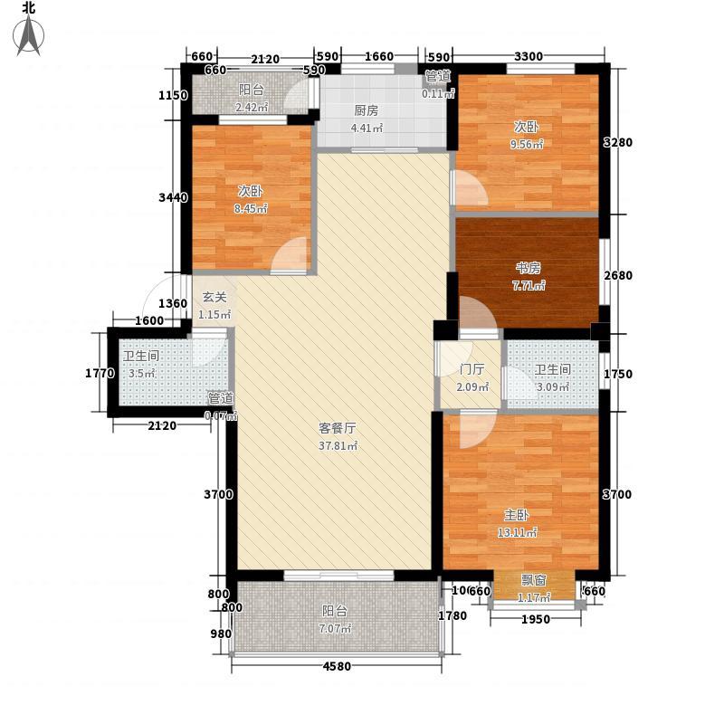 大家新城126.70㎡B7d户型4室2厅2卫1厨