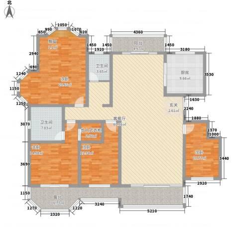 绅派金湖帝景4室1厅2卫1厨168.54㎡户型图