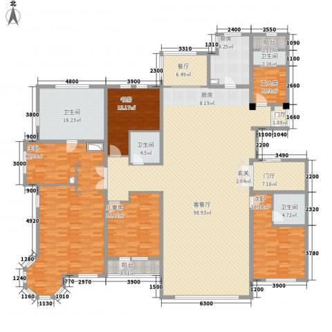 青宾5号院4室2厅4卫1厨251.55㎡户型图