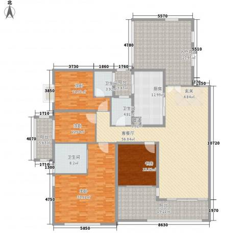 千灯湖一号公馆4室1厅3卫1厨253.00㎡户型图